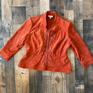 Roz&Ali Orange Blazer Small